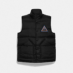 STAR WARS X COACH REVERSIBLE DOWN VEST WITH PATCH - F79838 - BLACK