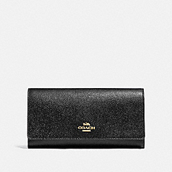 COACH F79868 Trifold Wallet IM/BLACK
