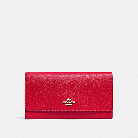 COACH F79868 TRIFOLD WALLET IM/BRIGHT RED