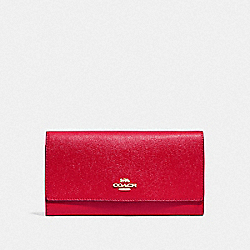 COACH F79868 - TRIFOLD WALLET IM/BRIGHT RED