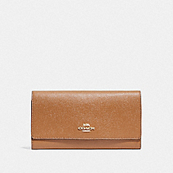 COACH F79868 - TRIFOLD WALLET IM/LIGHT SADDLE