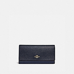 COACH F79868 - TRIFOLD WALLET IM/MIDNIGHT