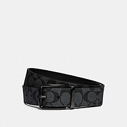 COACH F79874 - HARNESS BUCKLE CUT-TO-SIZE REVERSIBLE BELT, 38MM QB/CHARCOAL CADET