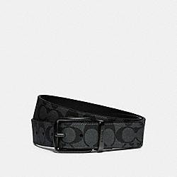COACH F79874 Harness Buckle Cut-to-size Reversible Belt, 38mm QB/CHARCOAL CADET