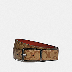 COACH F79874 - HARNESS BUCKLE CUT-TO-SIZE REVERSIBLE BELT, 38MM QB/TAN TERRACOTTA
