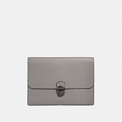 COACH F79881 Beckett Portfolio Pouch QB/HEATHER GREY