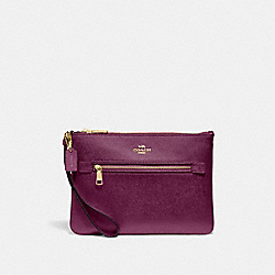 COACH F79895 Gallery Pouch IM/DARK BERRY