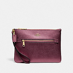 COACH F79895 Gallery Pouch IM/METALLIC WINE