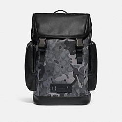 COACH F79900 Ranger Backpack In Signature Canvas With Camo Print QB/GREY MULTI