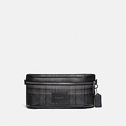 COACH F79938 Westway Belt Bag In Signature Canvas With Plaid Print QB/BLACK MULTI