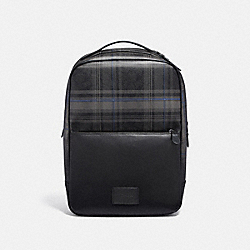 WESTWAY BACKPACK IN SIGNATURE CANVAS WITH PLAID PRINT - F79939 - QB/BLACK MULTI
