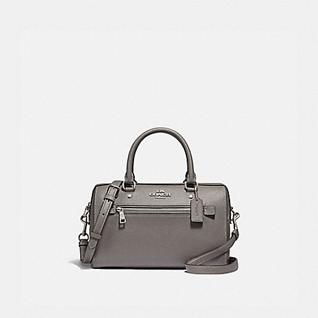 COACH F79946 ROWAN SATCHEL SV/HEATHER GREY