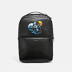 STAR WARS X COACH WESTWAY BACKPACK IN SIGNATURE CANVAS WITH DARTH VADER - F79949 - QB/BLACK MULTI