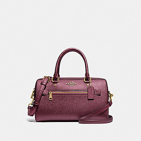 COACH F79954 ROWAN SATCHEL IM/METALLIC WINE