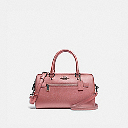 COACH F79954 - ROWAN SATCHEL QB/METALLIC DARK BLUSH