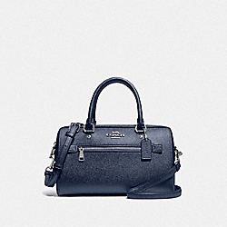 COACH F79954 - ROWAN SATCHEL SV/METALLIC BLUE