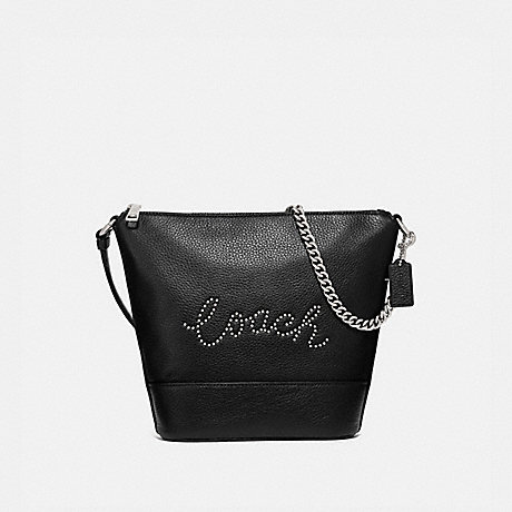 COACH F79955 SMALL PAXTON DUFFLE WITH STUDDED COACH SCRIPT SV/BLACK