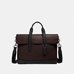 COACH F79966 Hamilton Portfolio Brief With Signature Leather Detail QB/OXBLOOD MULTI
