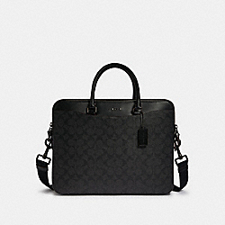 COACH F79974 Beckett Day Bag In Signature Canvas JI/BLACK/BLACK/OXBLOOD
