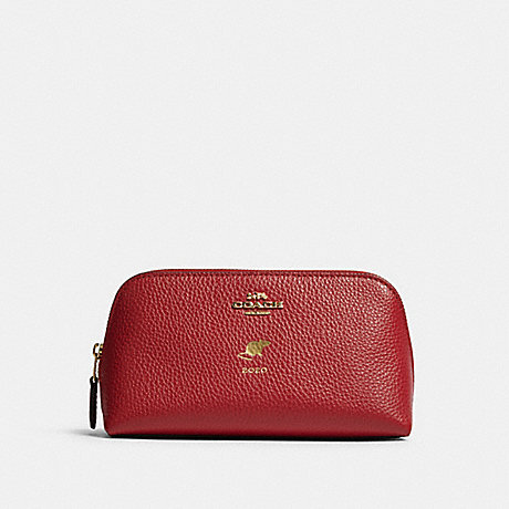 COACH F79981 LUNAR NEW YEAR COSMETIC CASE 17 WITH RAT IM/TRUE RED