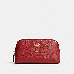 COACH F79981 - LUNAR NEW YEAR COSMETIC CASE 17 WITH RAT IM/TRUE RED