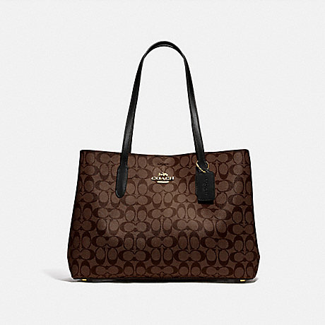 COACH F79987 LARGE AVENUE CARRYALL IN SIGNATURE CANVAS IM/BROWN/BLACK