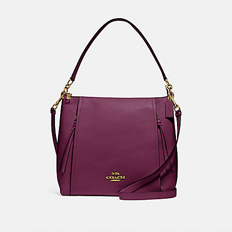 COACH F79994 MARLON HOBO IM/DARK-BERRY