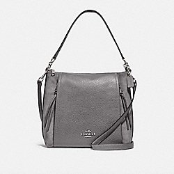 COACH F79995 - MARLON HOBO SV/HEATHER GREY