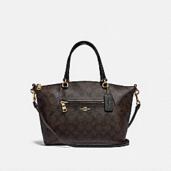 PRAIRIE SATCHEL IN SIGNATURE CANVAS - F79998 - IM/BROWN/BLACK