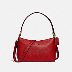 COACH F80058 - LEWIS SHOULDER BAG IM/TRUE RED