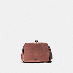 COACH F80186 - PEARL KISSLOCK CROSSBODY QB/METALLIC DARK BLUSH