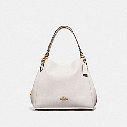 HALLIE SHOULDER BAG WITH SNAKE TRIM - F80266 - IM/CHALK