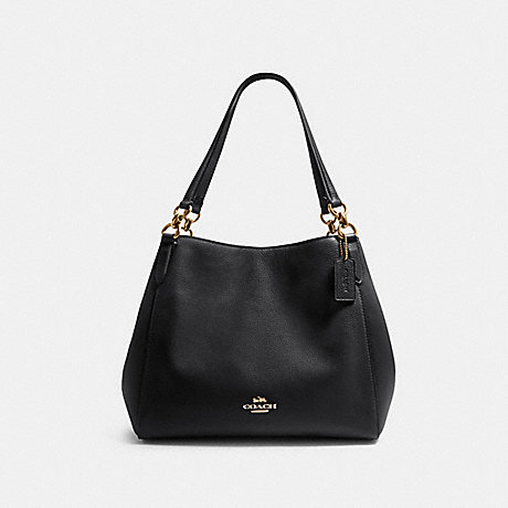 COACH F80268 HALLIE SHOULDER BAG IM/BLACK