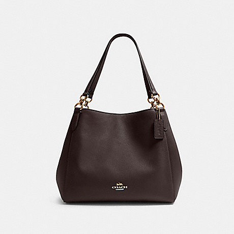 COACH F80268 HALLIE SHOULDER BAG IM/OXBLOOD-1
