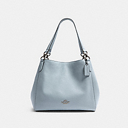 COACH F80268 Hallie Shoulder Bag SV/PALE BLUE