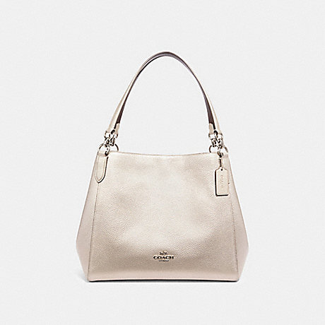 COACH F80271 HALLIE SHOULDER BAG SV/PLATINUM