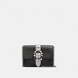 COACH F80299 - BOWERY CROSSBODY SV/BLACK GUNMETAL MULTI