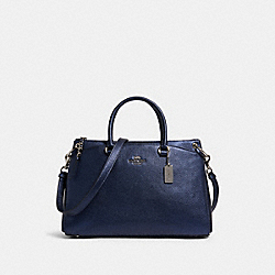 COACH F80322 - MIA SATCHEL SV/METALLIC BLUE