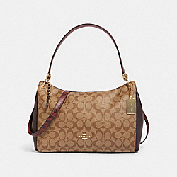 COACH F80324 - MIA SHOULDER BAG IN SIGNATURE CANVAS IM/KHAKI MULTI