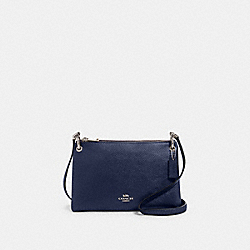 COACH F80333 - MIA CROSSBODY SV/METALLIC BLUE