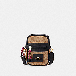 VALE PHOEBE CROSSBODY IN SIGNATURE CANVAS - F80384 - IM/KHAKI/BLACK