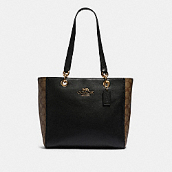 COACH F80810 - JES TOTE IN SIGNATURE CANVAS IM/KHAKI/BLACK