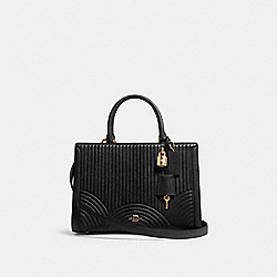 ZOE CARRYALL WITH ART DECO QUILTING - F80821 - IM/BLACK