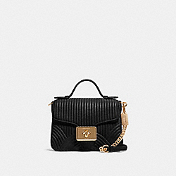 COACH F80823 - CASSIDY TOP HANDLE CROSSBODY WITH ART DECO QUILTING IM/BLACK
