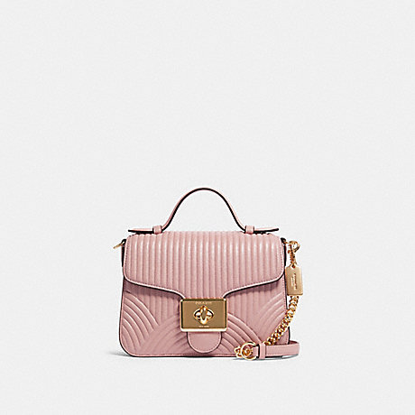 COACH F80823 CASSIDY TOP HANDLE CROSSBODY WITH ART DECO QUILTING IM/PINK