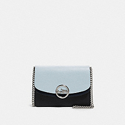 JADE FLAP CROSSBODY IN COLORBLOCK - F80834 - SV/PALE BLUE MULTI