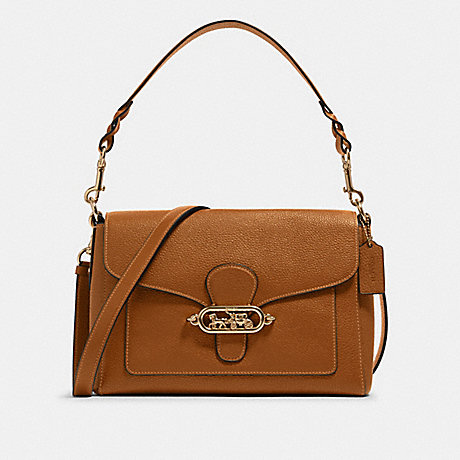 COACH F80840 JADE MESSENGER IM/LIGHT-SADDLE