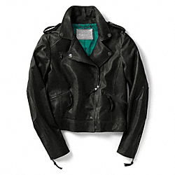 COACH TYLER LEATHER MOTO JACKET - ONE COLOR - F80929