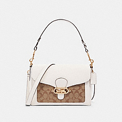 COACH F81992 - JADE MESSENGER WITH SIGNATURE CANVAS DETAIL IM/KHAKI/CHALK