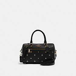 ROWAN SATCHEL WITH GROMMETS - F82128 - IM/BLACK